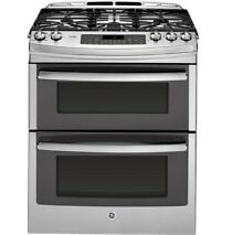 GE PGS950SEFSS 30  Gas Slide In Sealed Burner Double Oven Range LOCAL PICK UP