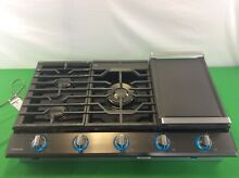 Samsung NA36K7750TG AA 36 inch Stainless Steel Gas Cooktop   Black