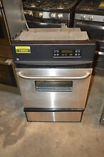GE JGRP20SENSS 24  Stainless Single Gas Wall Oven NOB  15859