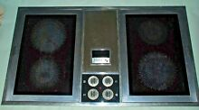 Tappan electric 2 glass  elements down draft cook top w 1 Grill  Mod  13 2581 10