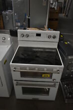 KitchenAid KFED500EWH 30  White Electric Range w  Double Oven  33433 CLW