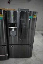 Samsung RF28HFEDBSG 36  Black Stainless French Door Refrigerator  34163 CLN