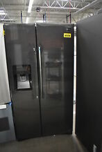 Samsung RS25J500DSG 36  Black Stainless Side By Side Refrigerator NOB  41335 HRT