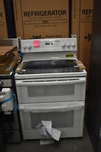 GE JB860DJWW 30  White Freestanding Double Oven Electric Range NOB  38809 HRT