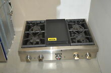 Thermador PCG364GD 36  Stainless Pro Style Gas Rangetop NOB  35282 HRT