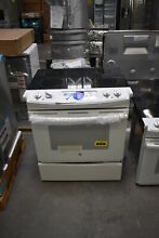 GE JS630DFWW 30  White Slide In Electric Range NOB  41744 HRT