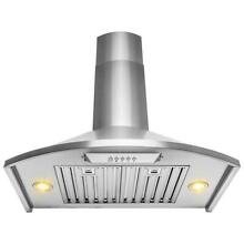 AKDY 30  Convertible Kitchen Wall Mount Range Hood in Brushed Stainless Steel