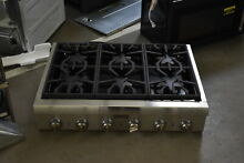 Thermador PCG366G 36  Stainless Pro Style NG Gas Rangetop NOB  42072 HRT