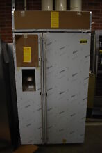 GE Monogram ZISS420DKSS 42  Stainless Side by Side Refrigerator NOB  42142 HRT