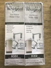 2 Pack Whirlpool Ice Maker Water Filter ICE2 F2WC9I1