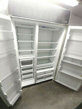 Subzero 632 Side by Side Refrigerator  Stainless Steel  48 w x 84 t x 24 d