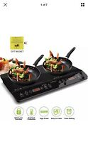 CUISUNYO Induction Cooktop  1800W Double Countertop Burner 2 Separate Heating