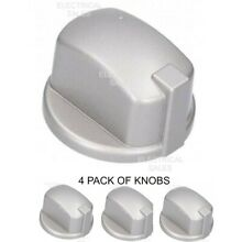 HOTPOINT INDESIT OVEN COOKER KNOB GAS SWITCH SILVER INOX C00284958 GENUINE x 4