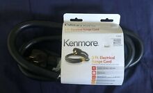 Kenmore Power Supply Range Cord 5  Long 4 Prong Wire 50 Amp Black 15009 or 49696