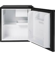 Haier 1 7 Cu Ft Single Door Compact Refrigerator QHE02GGMBB  Black