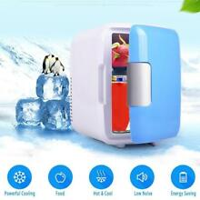4L Mini Dorm Small Fridge with Freezer Refrigerator Cooler Warmer Office Home