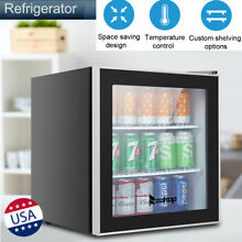 3 Tiers Beverage Refrigerator Freezer Portable Cooler Storage Shelf Cabinet Mini