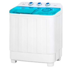 Portable Mini Twin Tub Compact Washing Machine and Dryer Combo w  15 Minute Time