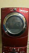 MAYTAG 3000 SERIES RED FRONT LOAD WASHER W  GAS DRYER SET