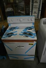 Hotpoint RBS160DMWW 30  White Freestanding Electric Range NOB  43358 CLW