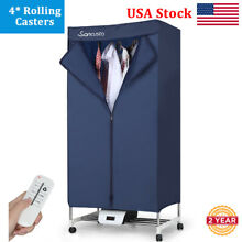 1000W Electric Rolling Clothes Dryer Timer Heater Wardrobe Laundry Drying Rack