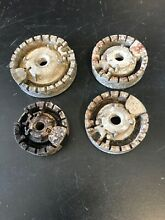 GE Range Set of 4 burner heads WB16K12  WB16K11  WB16K10