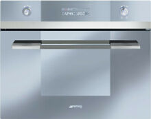 Smeg Linea SCU45VCS1 24 Inch Single Electric Wall Convection Oven with Steam