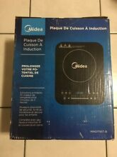 Midea Induction Portable Cooktop  with 9 Inch Glass Lid Saut  Pan