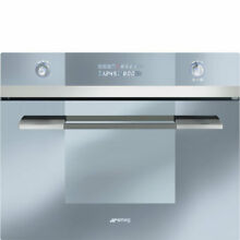 Smeg Linea SCU45MCS1 24 Inch Single Electric Wall Convection Oven with Steam