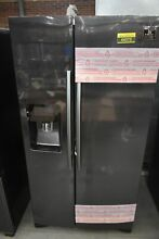Samsung RS25J500DSG 36  Black Stainless Side By Side Refrigerator  44373 HRT