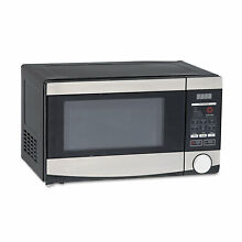 Avanti 0 7 Cu ft Capacity Microwave Oven 700 Watts Stainless Steel and Black