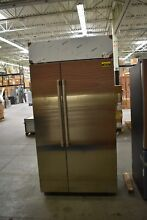 GE Cafe CSB42WSKSS 42  Stainless CD Built In Refrigerator NOB  44478 HRT