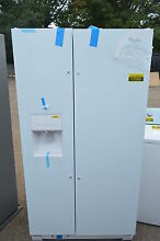 Whirlpool WRS325FDAW 36  White Side by Side Refrigerator NOB  17389 T2
