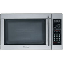 Magic Chef 1 3 Cu  Ft  1000W Countertop Microwave Oven  Stainless Steel