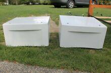 Washer and Dryer Laundry Pedestals with Storage Drawer Sold As Pair