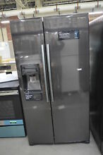 Samsung RS25H5111SG 36  Black Stainless Side By Side Refrigerator NOB  34254 HRT