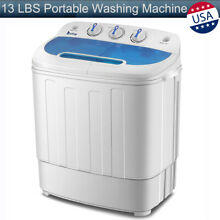 13 LBS Mini Compact Portable Washing Machine Twin Tub Laundry Spin Dryer Washer