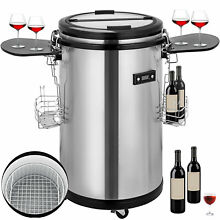 1 7 cu ft Indoor Outdoor Party Cooler Fridge Portable ETL Stainless Steel 50L