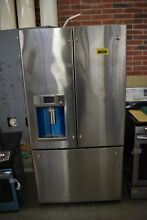 GE Cafe CFE28TSHSS 36  Stainless French Door Refrigerator NOB  33393 HRT