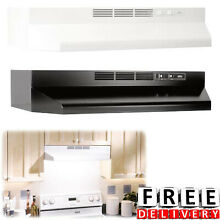 Under Cabinet Range Hood Capable 30  Kitchen Vent Black White Fans Filter