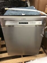 Bosch 24 In  Recessed Handle Dishwasher  SHEM63W55N   Stainless Steel  read