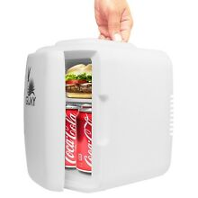 Guay Portable Mini Fridge Cooler and Warmer 4 Liter 6 Can for Home Cars   White
