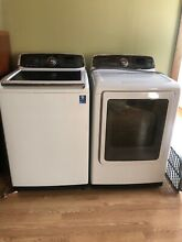 SAMSUNG WASHER AND DRYER SET white  5 2cu ft washer  electric dryer with steam