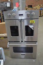 Viking VDOF730SS 30  Stainless Double French Door Electric Wall Oven  33135 MAD