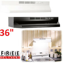 Under Cabinet Range Hood 36  Exhaust Kitchen Vent Duct Stove Black White Filter