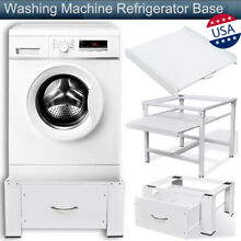 Washing Machine Refrigerator Base Laundry Pedestal Bracket Base w  Drawer Shelf
