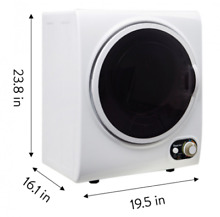 Electric Dryer Compact Compact Stainless Steel Tub Durable Apartment 1 5 cu  ft