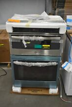GE PT9800SHSS 30  Stainless Microwave Oven Combo Wall Oven NOB  46201 HRT