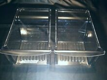 Used Frigidaire Kenmore Refrigerator Crisper Drawers  size  17 x11 5x7 5