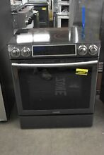 Samsung NE58K9500SG 30  Black Stainless Slide In Electric Range NOB  49367 HRT